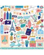 Let's Travel Element Stickers - Carta Bella