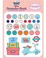 Let's Travel Decorative Brads - Carta Bella