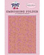 Fun Times Embossing Folder - Let's Travel - Carta Bella