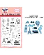 Let's Go Die & Stamp Set - Let's Travel - Carta Bella