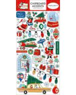"Merry Christmas 6"" x 13"" Chipboard Accent Stickers - Carta Bella"