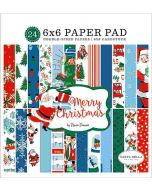 "Merry Christmas 6"" x 6"" Paper Pad - Carta Bella"