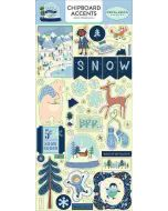 "Snow Much Fun 6"" x 13"" Chipboard Accent Stickers - Carta Bella"