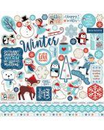 Echo Park Element Stickers - Celebrate Winter