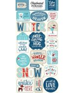 Echo Park Chipboard Phrases Stickers - Celebrate Christmas