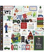 Carta Bella Element stickers - Down on the Farm