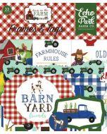 Echo Park Frames & Tags - Down on the Farm