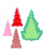 Fairy Set Background Trees Thinlits Dies - Jorli Perine - Sizzix