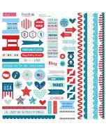 Fireworks & Freedom Doohickey Cardstock Stickers