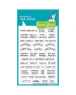 Sentiments Clear Stamps - Reveal Wheel - Lawn Fawn