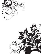 Cgull 12-0009 Embossing Folder Corner Florals