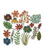 Tim Holtz Funky Floral #1 Sizzix dies