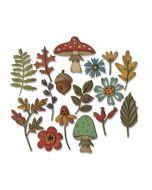 Tim Holtz Sizzix Funky Foliage Thinlits Die set
