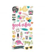 Simple Stories Good Vibes Chipboard Stickers