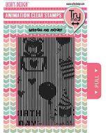 Happy Birthday Animation Stamp Set