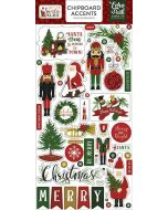 "Here Comes Santa Claus 6"" x 13"" Chipboard Accent Stickers - Echo Park"