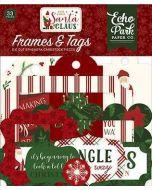 Here Comes Santa Claus Frames & Tags - Echo Park