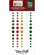 Here Comes Santa Claus Enamel Dots - Echo Park