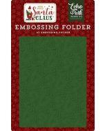 Deck the Halls Embossing Folder - Here Comes Santa Claus - Echo Park