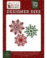 Jolly Snowflakes Die Set - Here Comes Santa Claus - Echo Park
