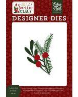 Deck The Halls Greenery Die Set - Here Comes Santa Claus - Echo Park