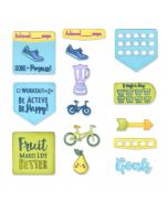 Health & Fitness Sizzix planner die and stamp set