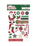 Here Comes Santa Epoxy Stickers