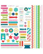 Home Sweet Home Doohickey Cardstock Stickers