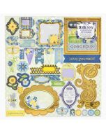 Bee-utiful You Iridescent Foil Chipboard stickers