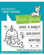 Winter Narwhal Clear Stamps - Lawn Fawn