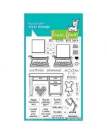 You're Just My Type Clear Stamps - Lawn Fawn