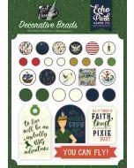 Lost in Neverland Decorative Brads - Echo Park