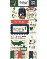 """Lost in Neverland 6"""" x 13"""" Chipboard Phrases - Echo Park"""