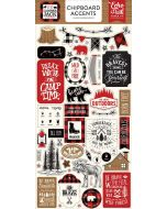 "Little Lumberjack 6"" x 13"" Chipboard Accent Stickers - Echo Park"