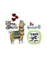 Sizzix Framelits Die Set 8PK w/Stamps - Llama Love