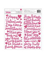 Pebbles Glitter Foam Thickers - Loves Me