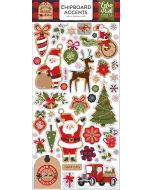 "My Favorite Christmas 6"" x 13"" Chipboard Accent Stickers - Echo Park"