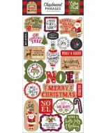 "My Favorite Christmas 6"" x 13"" Chipboard Phrase Stickers - Echo Park"