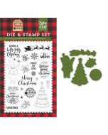 Be Merry Die & Stamp Set - My Favorite Christmas - Echo Park