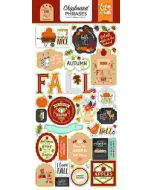 "My Favorite Fall 6"" x 13"" Chipboard Phrase Stickers - Echo Park"
