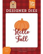 Hello Fall Pumpkin Die Set - My Favorite Fall - Echo Park - Clearance