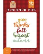 Fall Harvest Word Die Set - My Favorite Fall - Echo Park