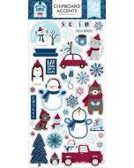 "My Favorite Winter 6"" x 13"" Chipboard Accent Stickers - Echo Park"