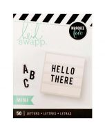 Mini Black alphabet letters for Mini Lightbox