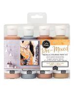 Mixed metals Color Pour Paint