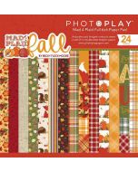 """Mad 4 Plaid Fall 6"""" x 6"""" Paper Pad - Becky Fleck Moore - PhotoPlay"""