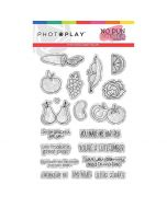 Fruits & Veggies Stamps - No Pun Intended - Becky Fleck - PhotoPlay