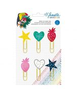 Box of Crayons Glitter Paper clips