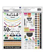 Color Kaleidoscope Phrase & Icon Holographic Stickers