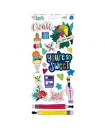 Box of Crayons accent and phrase stickers